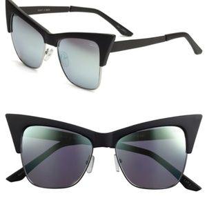 DesiXQuay TYSM Sunglasses Cat Eye w/ Mirror Lenses